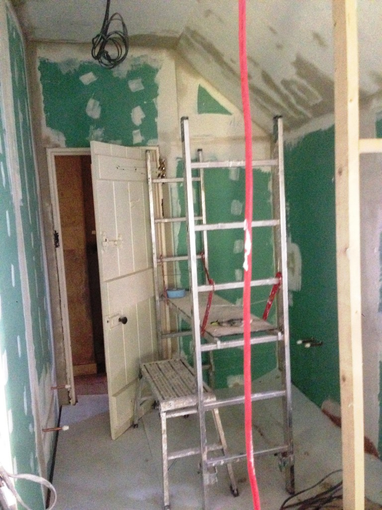 Bathroom plasterboarded and ready to fit