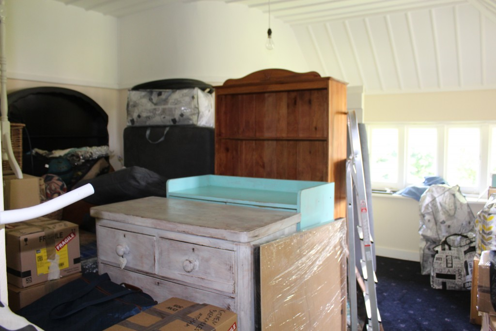 This room stored all of our furniture throughout the renovation